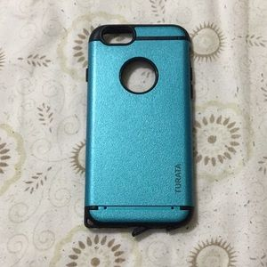 iPhone 6/6S protective blue and black case